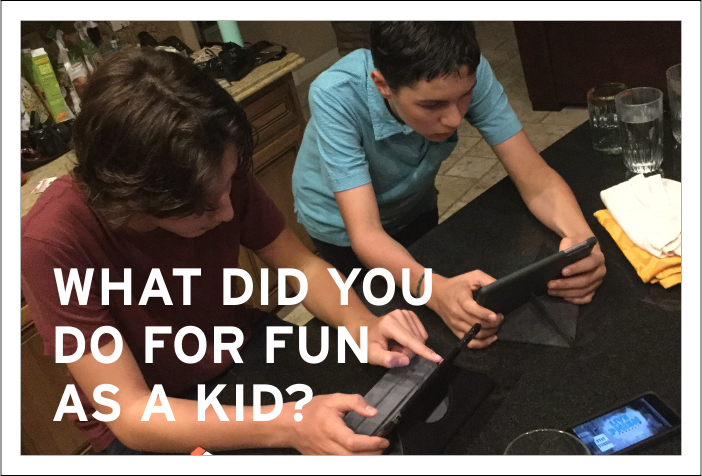"""Three generations of families were interviewed for an ad and asked one simple question, """"What did you like to do for fun as a kid?"""" Take a moment to see how they responded, then get your kids outside (and read some of the other links we've included)."""