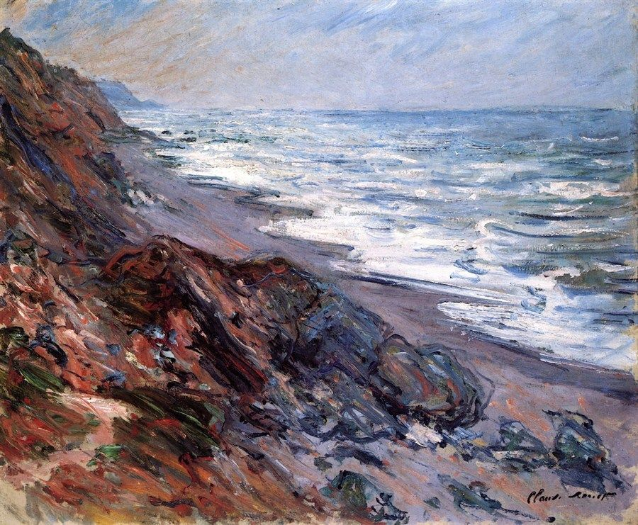 The Sea at Pourville .1882 by Claude Monet