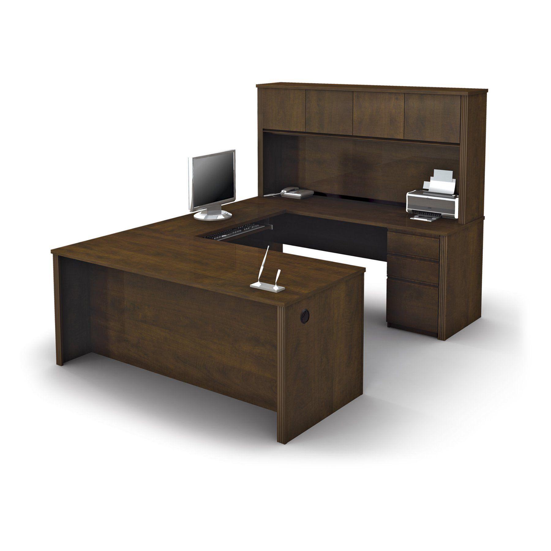 Bestar Prestige U-Shaped Workstation - Chocolate - 99853-69