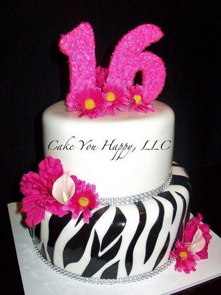 hot pink and zebra print cake