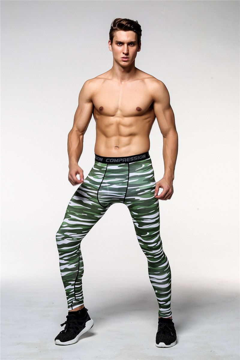 992623f0f218b Green Camouflage Men Fitness Joggers Mens leggings also called compression  pants and tights, mens compression leggings, mens running leggings, ...