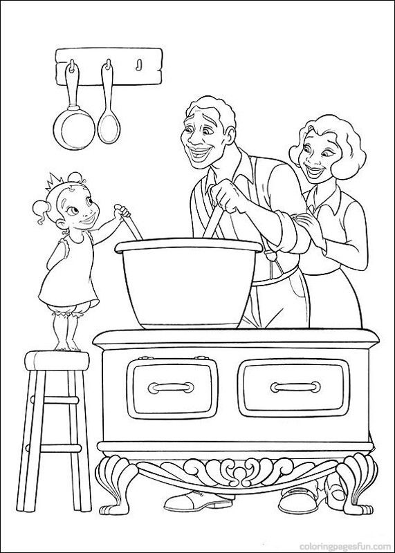 Princess and the Frog Coloring Pages 20 | Patrones para colorear ...