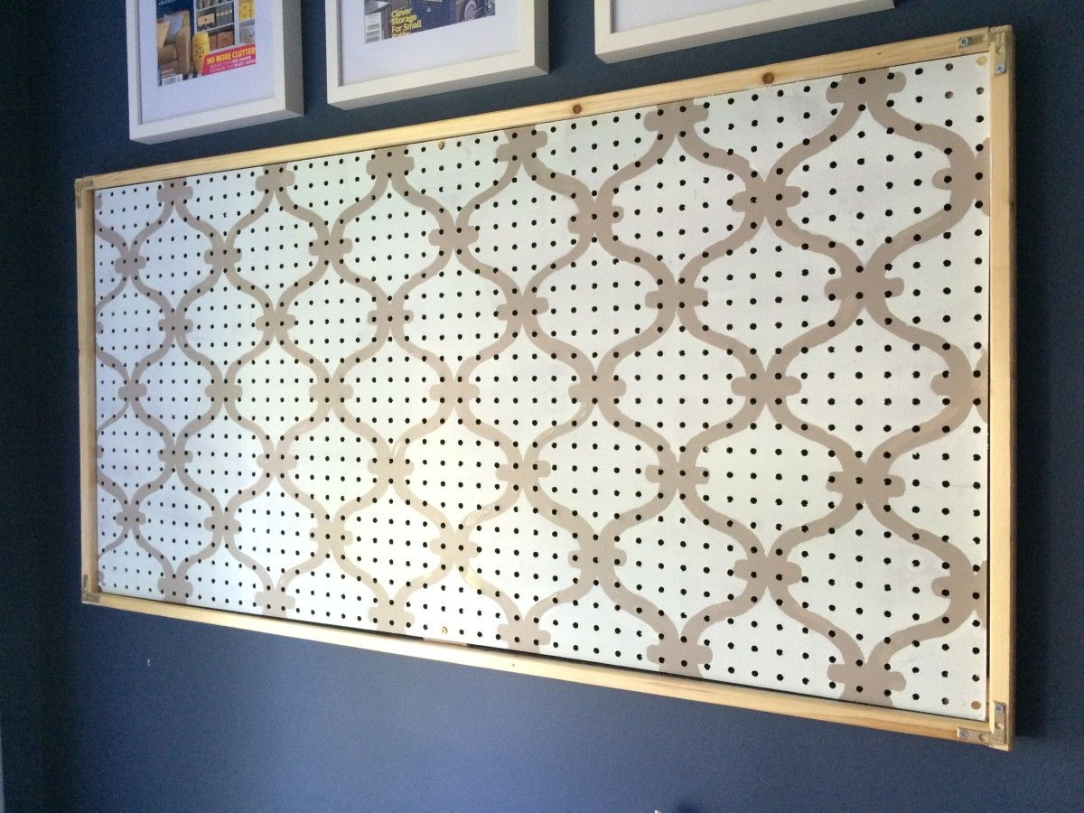 DIY: How-To Paint Pegboard + Build and Install a Frame Surround ...