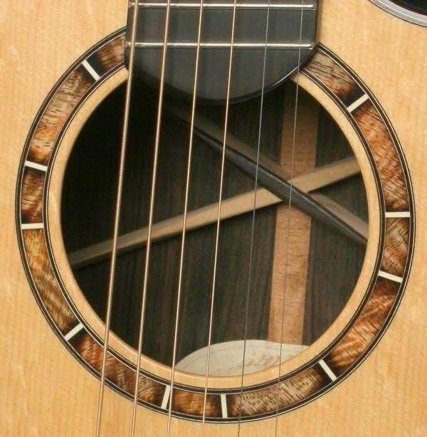 burning rosette guitar
