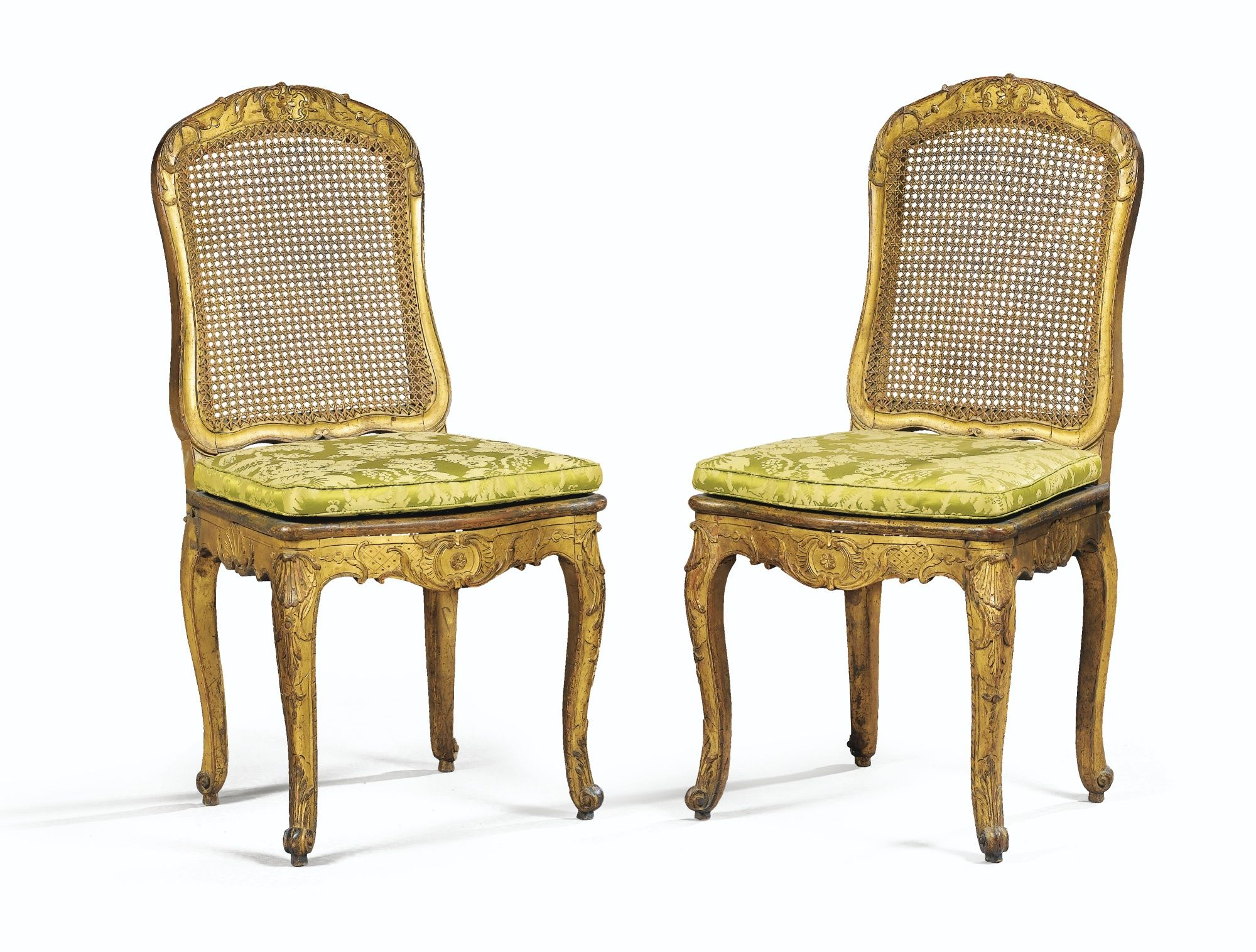 Date Unspecified A Pair Of Giltwood Chairs Regence Regilt Estimate 800 1 200 Eur Lot Sold 1 125 Eur Hammer Price With Chaise Cannee Mobilier Regence