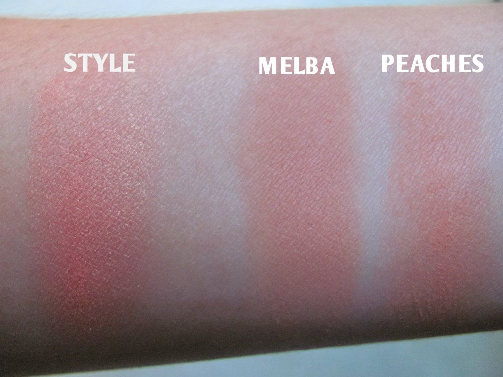 Bien connu MAC Powder Blush review : Melba vs. Peaches vs. Style | Macs  BM69