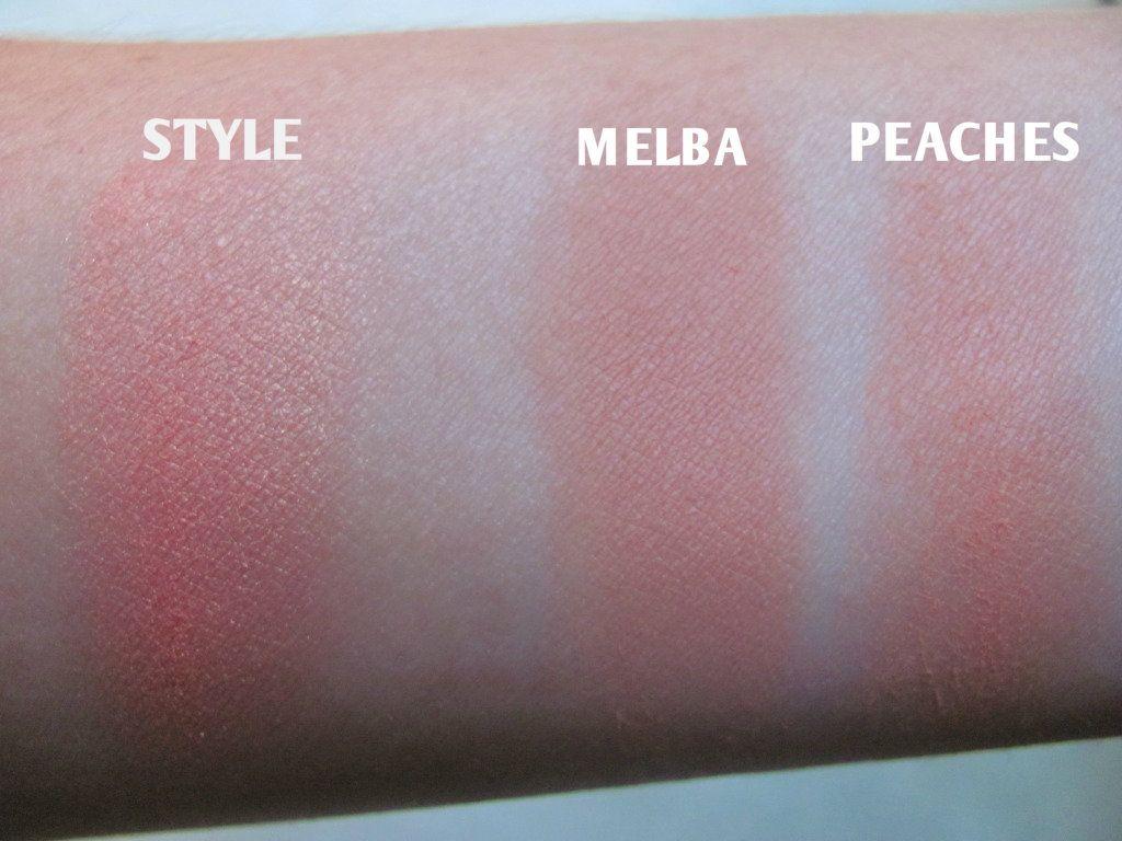 Bien connu MAC Powder Blush review : Melba vs. Peaches vs. Style | Macs  BM69