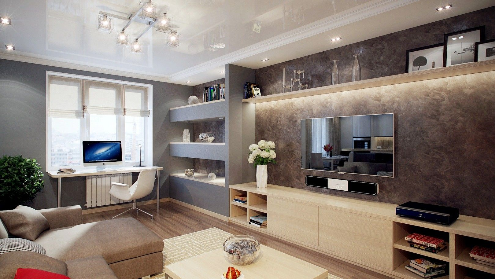 Image result for modern rustic tv feature wall For the Home