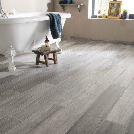 Carrelage sol et mur gris effet bois Way l.15 x L.90 cm | Sol ...