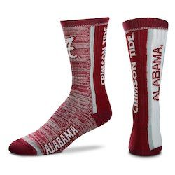 6c0b5159e5dd Alabama Crimson Tide For Bare Feet Bar Stripe Vert Socks - Crimson
