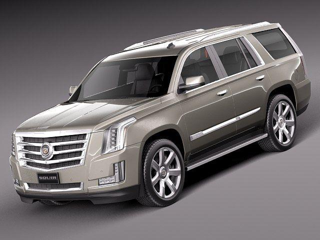 2013 2015 Suv Cadillac 3D Model 3D Model 3D Modeling