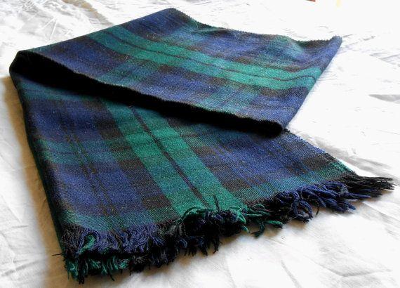 sciarpa vintage tartan originale scozzese anni 70 di cosediisa, €19.00