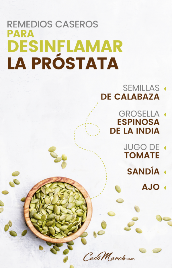 desinflamar la prostata alimentos