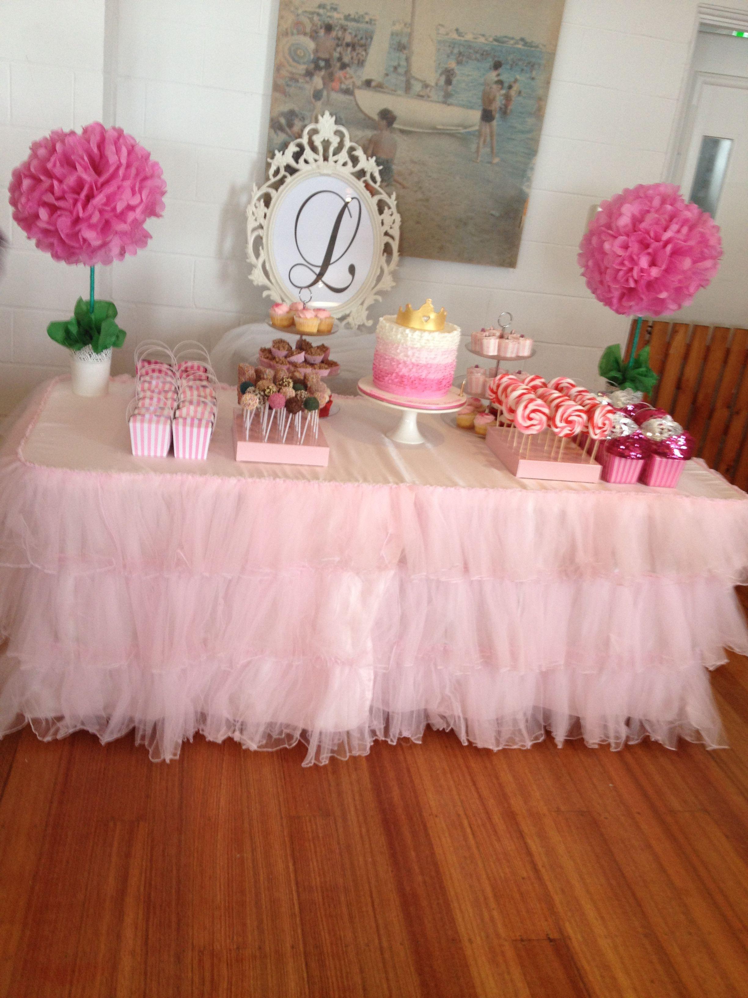 1st birthday cake table