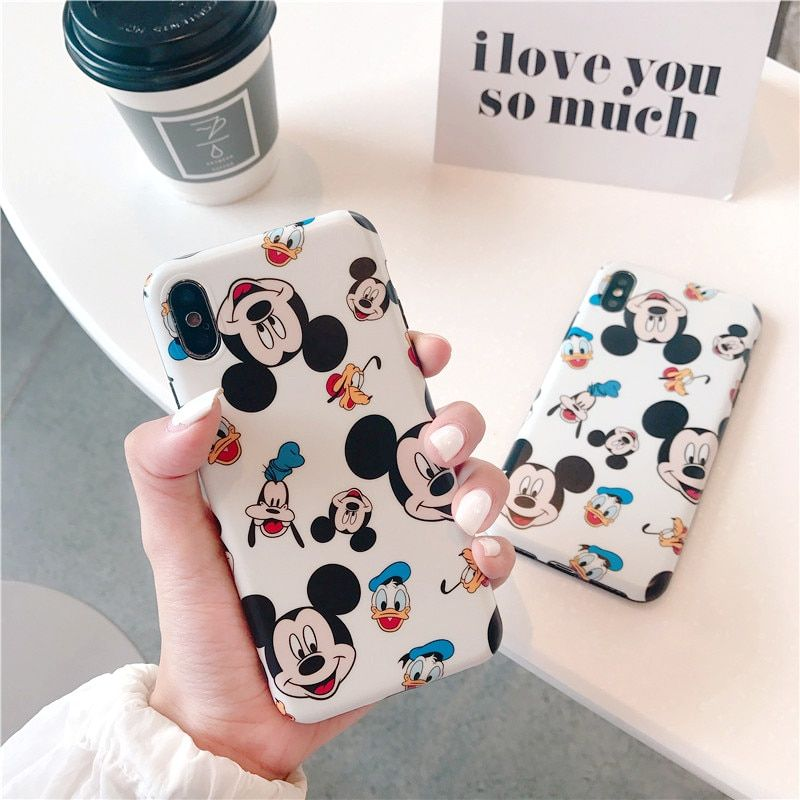 For iphone x xr xs xs max cartoon mickey mouse soft