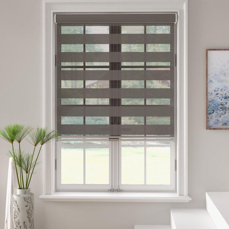 Latitude Run Free Stop Zebra Dual Layer Combi Window Semi Sheer Gray Roller Shade Birch Lane In 2020 Shades Blinds Blinds For Windows Pleated Shade
