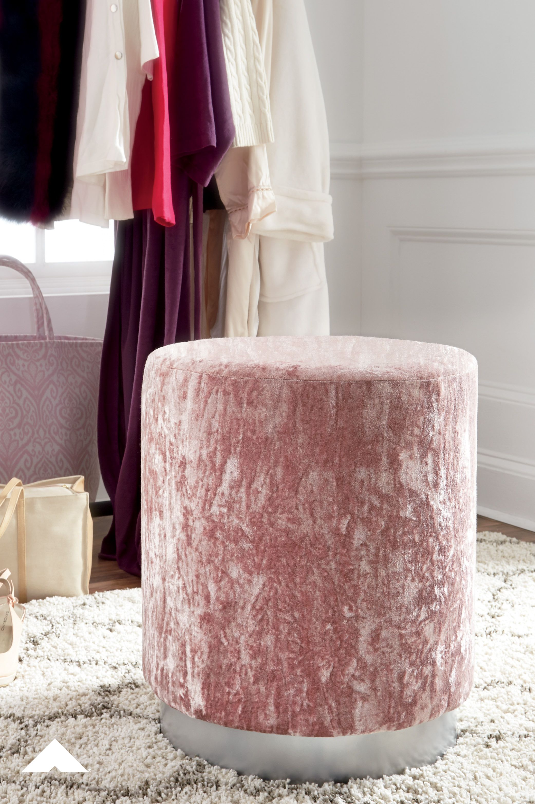 Lancer Blush Pink Accent Ottoman By Ashley Furniture Experience