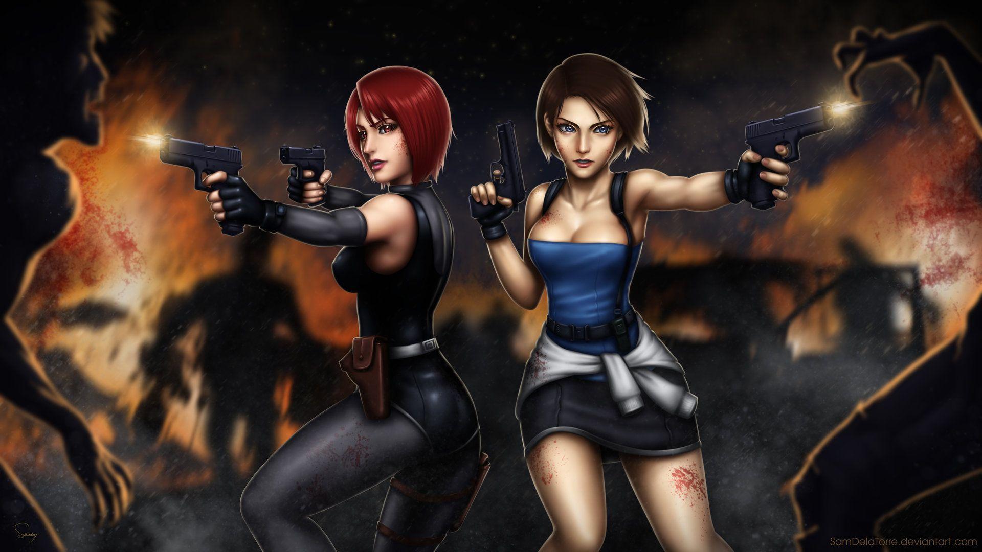 Artstation Resident Crisis Sam Delatorre Dino Crisis Jill Valentine Resident Evil