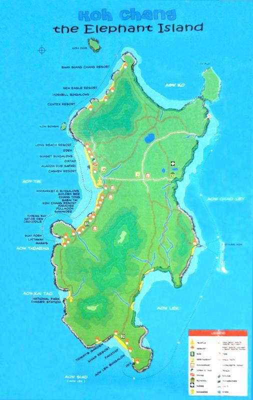 Koh Chang Thailand Map.Ranong Koh Chang Thailand Map Thailand Thailand Travel