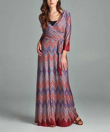 Another great find on #zulily! Red & Purple Geometric Maxi Dress #zulilyfinds