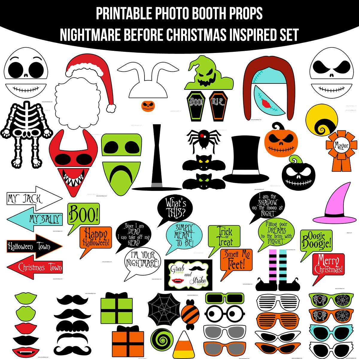 Instant Download Nightmare Before Christmas Inspired Printable Photo ...