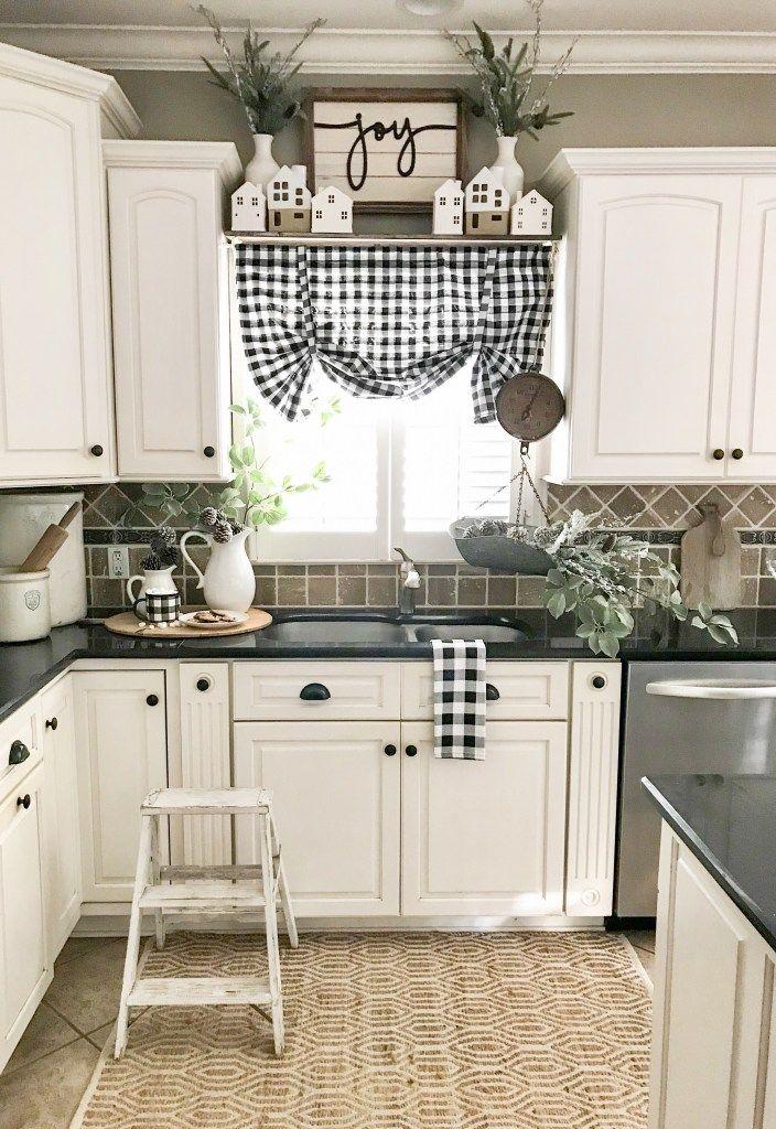 Neutral Decor Ideas With JOANN- Christmas Kitchen ... on Farmhouse Kitchen Counter Decor Ideas  id=62816