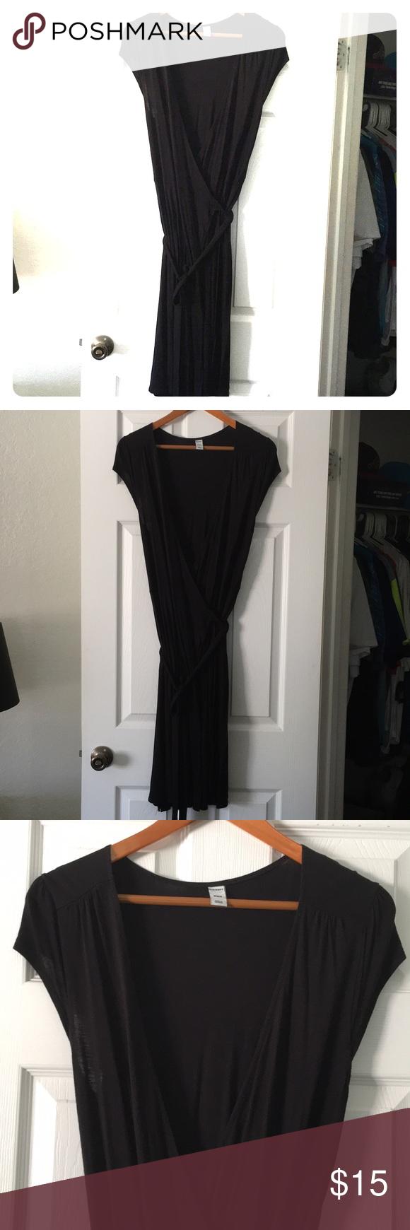Old navy black wrap dress size medium wrap dresses wraps and navy