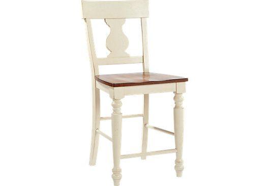 Pleasing Hillside Cottage White Counter Height Stool Dream House Evergreenethics Interior Chair Design Evergreenethicsorg