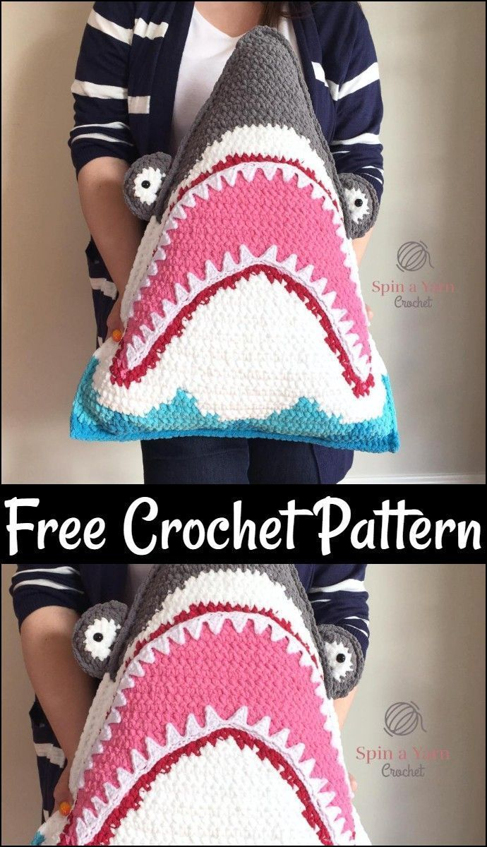 Free crochet pillow pattern, shark pillow free crochet pattern - the ...,  You can find very few things on the market that every one loves. While you will, #crochet #Free #pattern #Pillow #shark