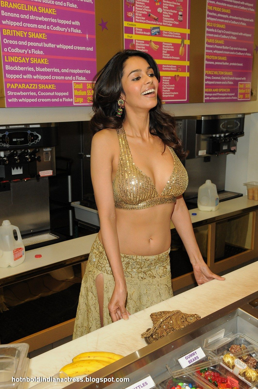 Hot N Bold Indian Actress Mallika Sherawat In Sexy Dress -3379