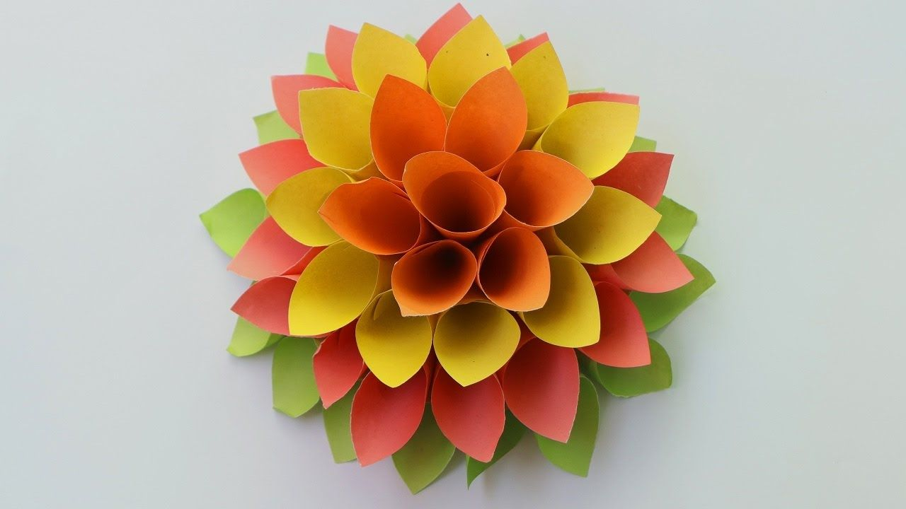 How To Make Paper Origami Flowers Paper Flowers For Beginners
