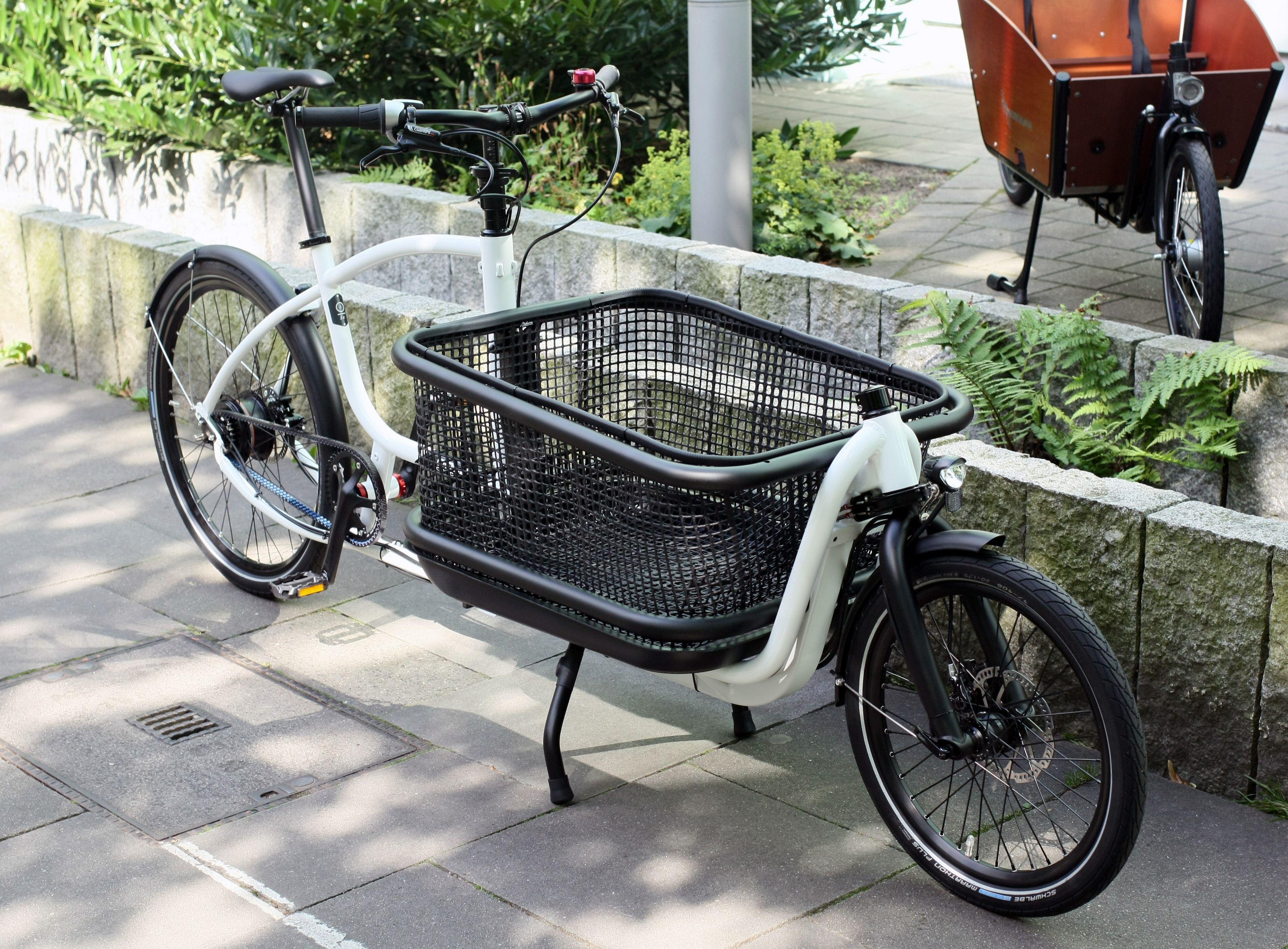 Douze Cycle in Standardlänge Weiß - #NuVinci N360 stufenloses Schaltgetriebe - #Lastenrad #cargobike