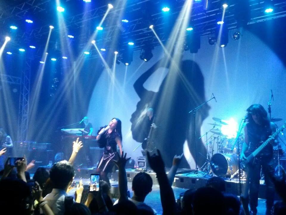 Tarja Turunen and her band: Max Lilja, Christian Kretschmar, Alex Scholpp, Kevin Chown and Ralf Gustke live at Tango Star Live Beijing, China, 22/06/2016 #tarja #tarjaturunen #tarjalive PH: https://www.facebook.com/citr.tour/