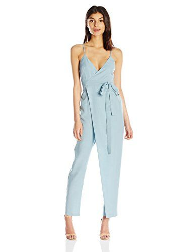 2dcaa1c74ba7 Wrap jumpsuit in soft tencel fabric that hits at the ankle