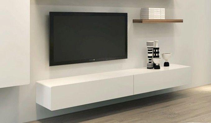 Ikon White Floating Entertainment Unit Delux Deco Living Room