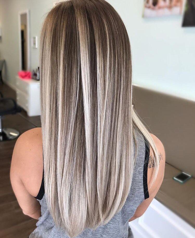 Brown Hair Color In 2020 Ash Blonde Hair Colour Hair Color Flamboyage Hair Styles