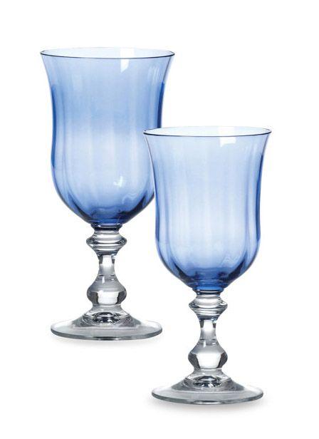mikasa french countryside blue crystal stemware