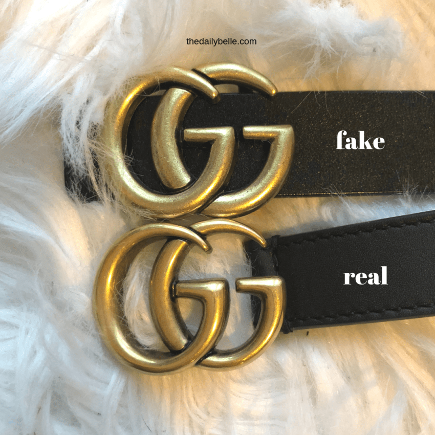 The Difference Between The Real Gucci Belt And The Fake One The Daily Belle Belle Belt Between Daily Dif In 2020 Gucci Belt Outfit Gucci Belt Original Gucci Belt