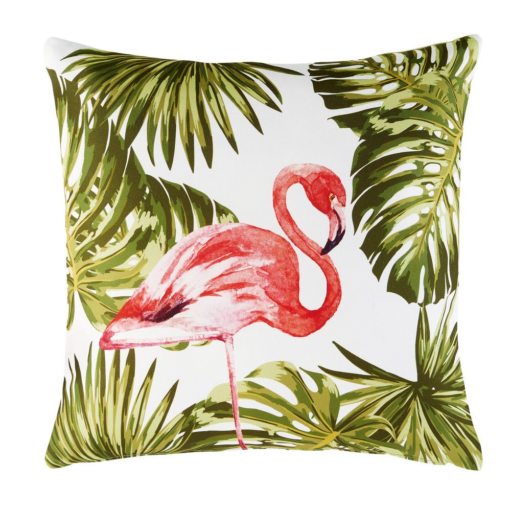outdoor kissen bedruckt mit flamingo motiv 50x50 pinterest flamants roses flamant et maison. Black Bedroom Furniture Sets. Home Design Ideas