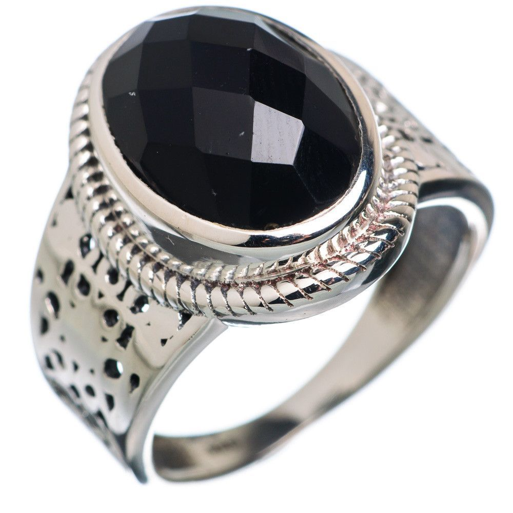Black Onyx 925 Sterling Silver Ring Size 8.25 RING664293