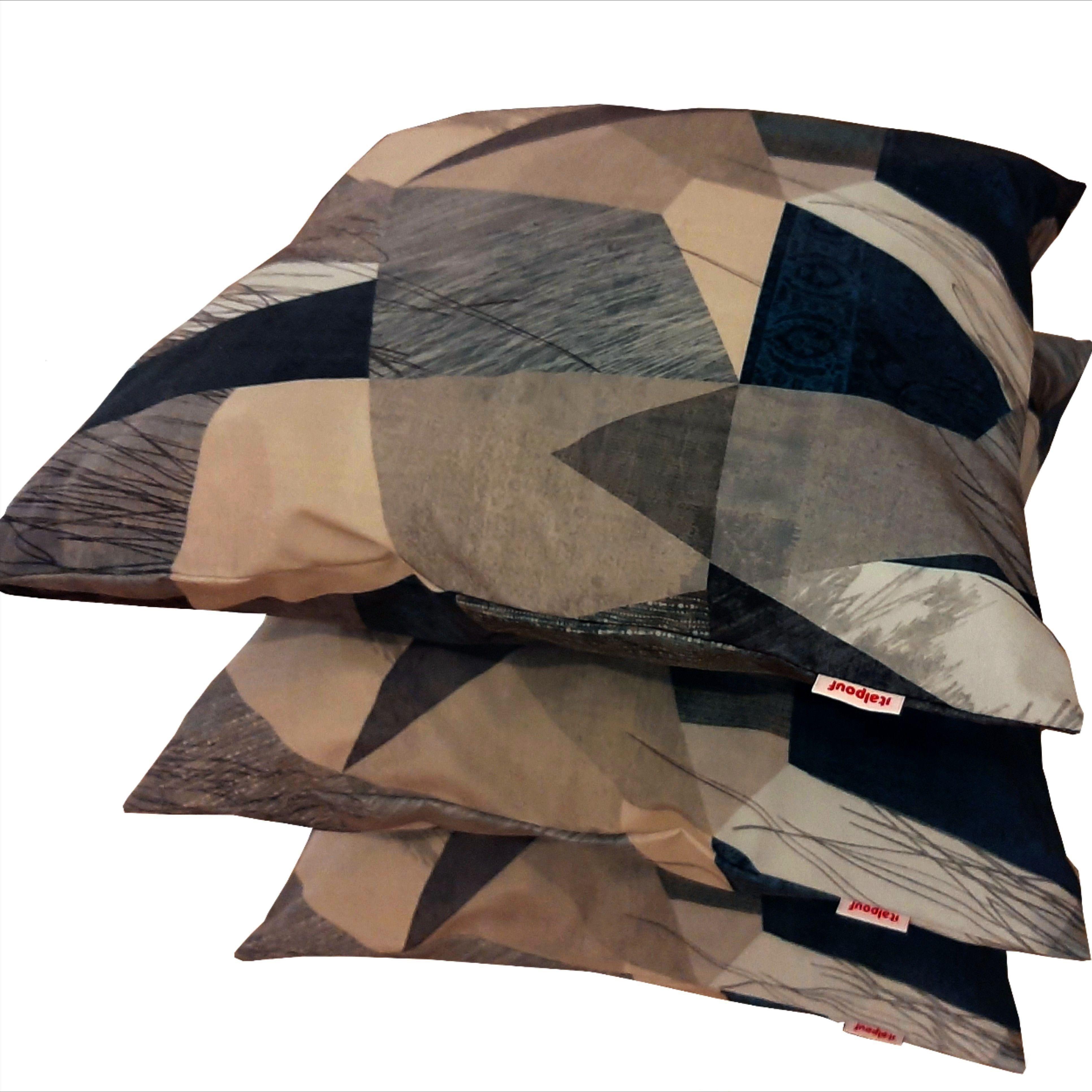 Moderno per Divani per e con fantasia astratta  tonalità del grigio azzurro e bianco Cuscini perfetti per con lo stile moderno e Bellissimi per la moderna solo da...