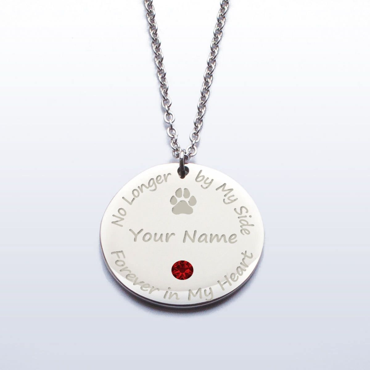 Personalized pet memorial pendant with swarovski crystal birthstone personalized pet memorial pendant with swarovski crystal birthstone name aloadofball Images