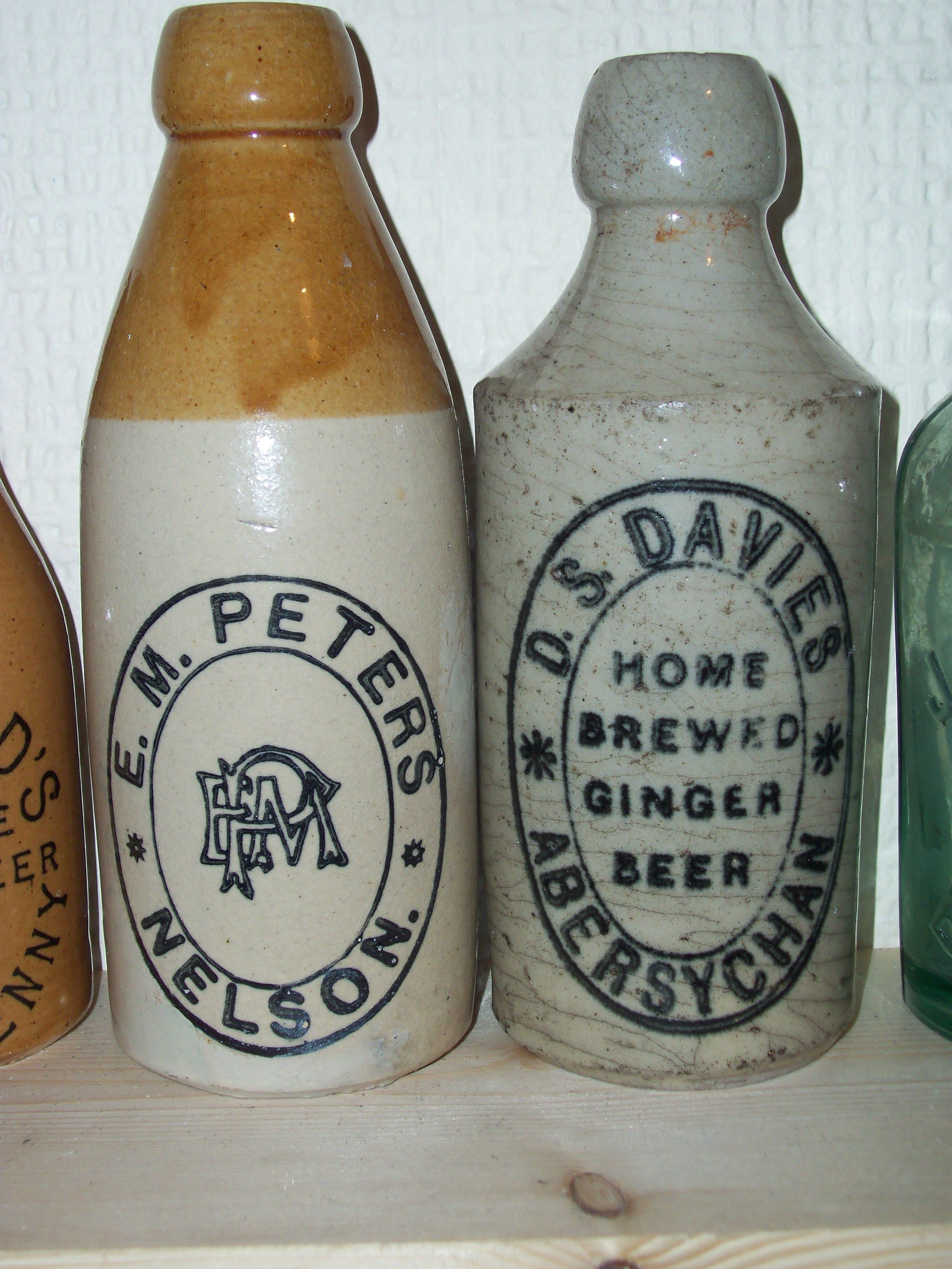 ginger beer bottles from nelson and abersychan | Ceramic