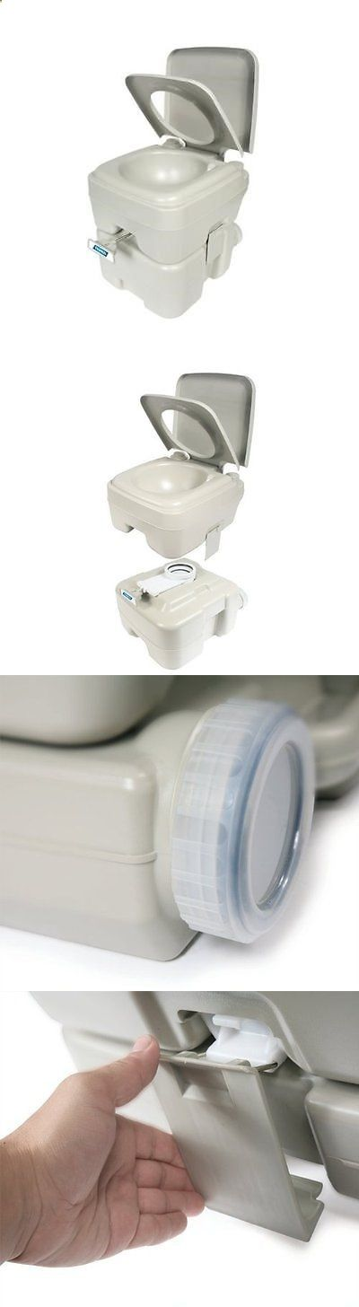 Camping Toilet - Other Camping and Hiking 8504: Camco 41541 Portable Toilet  - 5.3 Gallon
