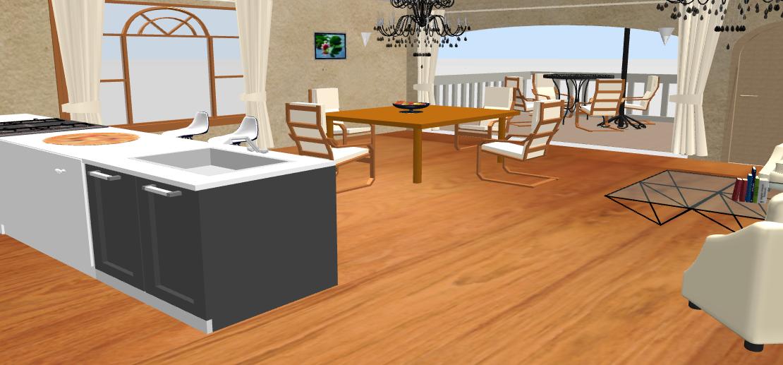 Desarrollo de amplia cocina en Sweet Home 3D By Enma Moreán