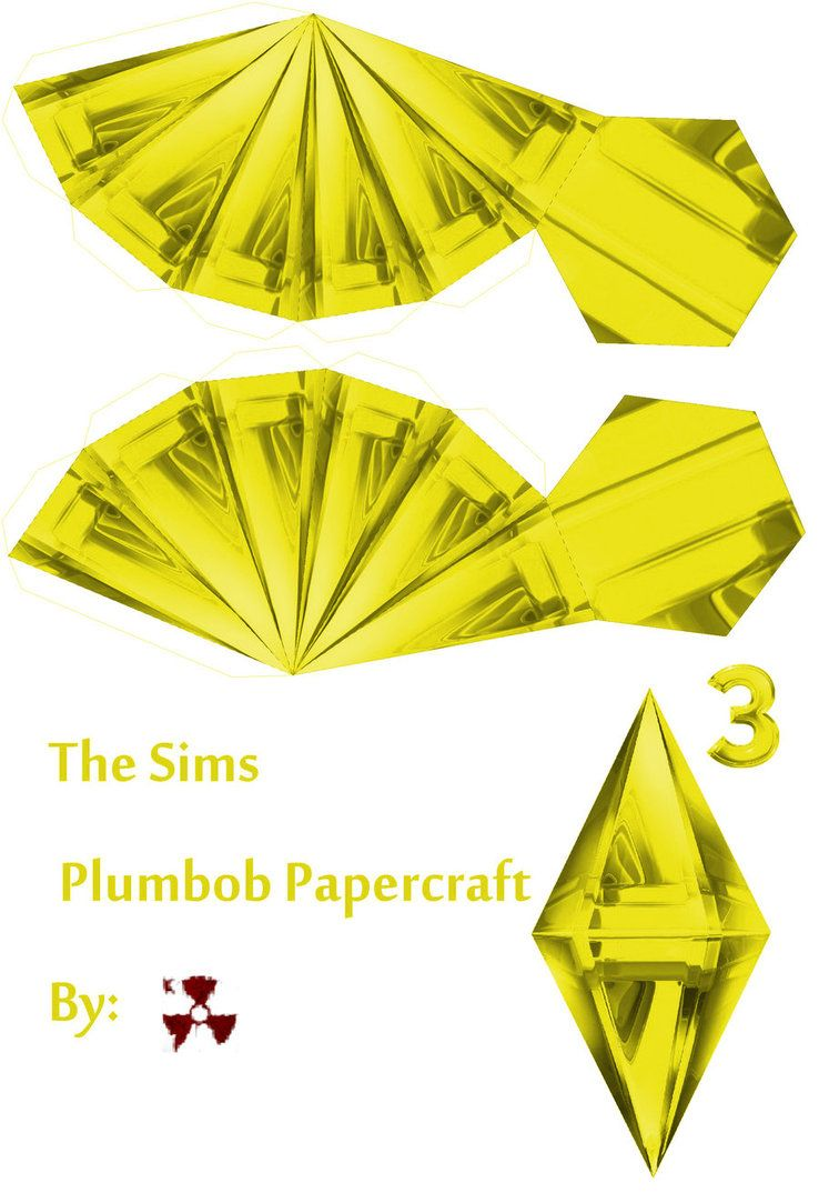 The Sims Yellow Plumbob By Killero94 Sims Yellow Paper Crafts