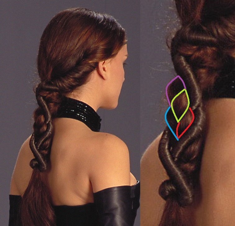 Attack Of The Clones: Padmé's Fireside/Black Corset/Dinner Gown Hairstyle