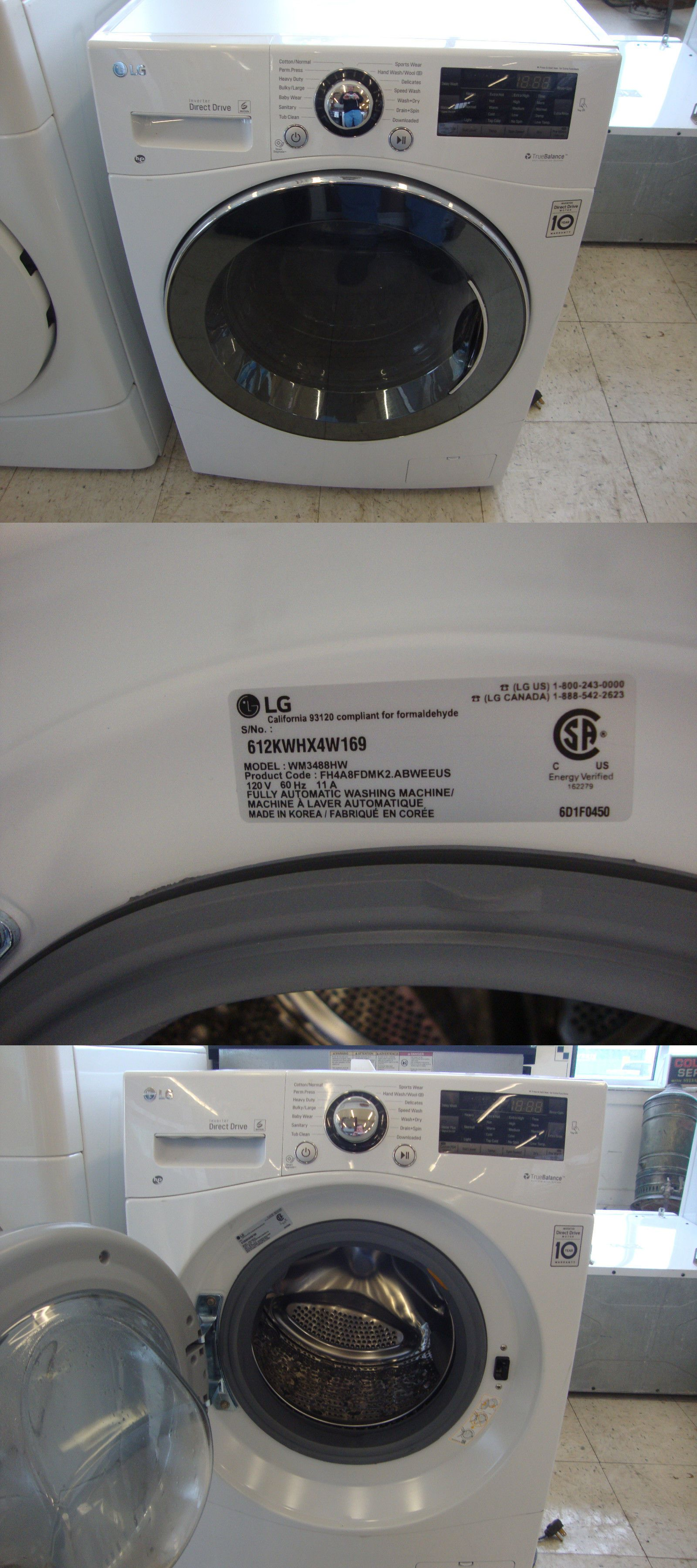 Washer Dryer Combinations And Sets 71257 Wm3488hw L G 24 Ventless Washer Dryer Combo Buy It No Combination Washer Dryer Washer Dryer Combo Washer And Dryer