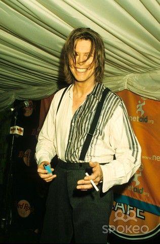 David Bowie Net Aid Concert in Wembley , London Photo by Alpha-Globe Photos, Inc.
