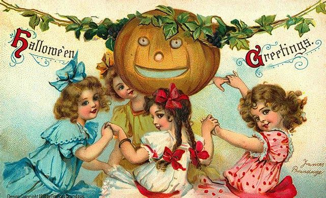 vintage everyday: A Collection of 25 Strange and Creepy Vintage Halloween Postcards